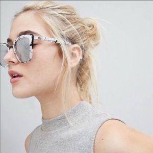Quay Australia My Girl Marble Mirror Sunglasses